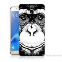 Teknomeg Samsung Galaxy J7 2016 Kılıf Kapak Maymun Baskılı Silikon