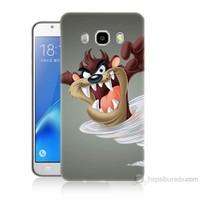 Teknomeg Samsung Galaxy J7 2016 Kapak Kılıf Tazmanya Canavarı Baskılı Silikon