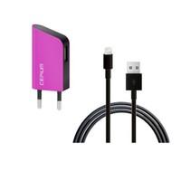 Cepium Apple Lisanslı 1A Ev Şarj Aleti + Lightning USB Kablo Hediye - Pembe - TR-1915_P