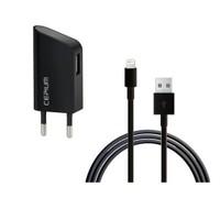 Cepium Apple Lisanslı 1A Ev Şarj Aleti + Lightning USB Kablo Hediye - Siyah - TR-1915_S