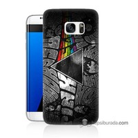 Teknomeg Samsung Galaxy S7 Edge Kapak Kılıf Pink Floyd Baskılı Silikon
