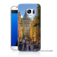 Teknomeg Samsung Galaxy S7 Edge Kapak Kılıf Galata Kulesi Baskılı Silikon