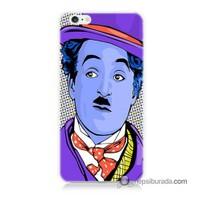 Teknomeg İphone 6S Kapak Kılıf Charlie Chaplin Baskılı Silikon