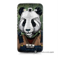 Teknomeg Samsung Galaxy Grand 2 Kapak Kılıf İşçi Panda Baskılı Silikon