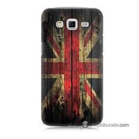 Teknomeg Samsung Galaxy Grand 2 Kapak Kılıf İngiliz Bayrağı Baskılı Silikon