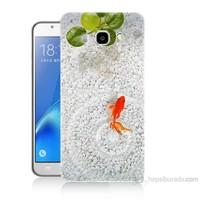 Teknomeg Samsung Galaxy J5 2016 Kapak Kılıf Kırmızı Balık Baskılı Silikon
