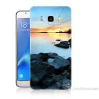 Teknomeg Samsung Galaxy J5 2016 Kapak Kılıf Kayalık Baskılı Silikon
