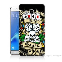 Teknomeg Samsung Galaxy J5 2016 Kapak Kılıf Kumar Baskılı Silikon