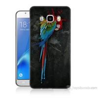 Teknomeg Samsung Galaxy J5 2016 Kapak Kılıf Papağan Baskılı Silikon