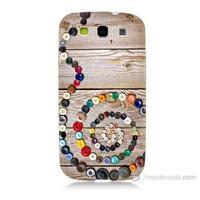 Teknomeg Samsung Galaxy S3 Düğmeler Baskılı Silikon Kılıf