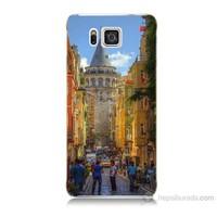 Teknomeg Samsung Galaxy Alpha G850 Galata Kulesi Baskılı Silikon Kılıf