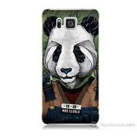 Teknomeg Samsung Galaxy Alpha G850 İşçi Panda Baskılı Silikon Kılıf