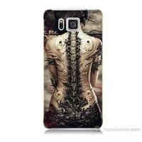 Teknomeg Samsung Galaxy Alpha G850 Mekanik Kız Baskılı Silikon Kılıf