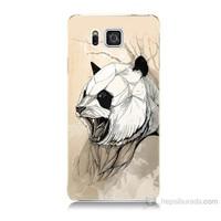 Teknomeg Samsung Galaxy Alpha G850 Kavgacı Panda Baskılı Silikon Kılıf