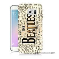 Teknomeg Samsung Galaxy S6 Edge Kılıf Kapak The Beatles Baskılı Silikon