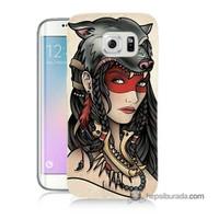 Teknomeg Samsung Galaxy S6 Edge Kapak Kılıf Pocahontas Baskılı Silikon