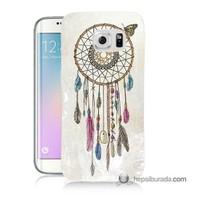 Teknomeg Samsung Galaxy S6 Edge Plus Kapak Kılıf Dream Catcher Baskılı Silikon