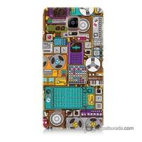 Teknomeg Samsung Galaxy Note 4 Kılıf Kapak Teknoloji Baskılı Silikon
