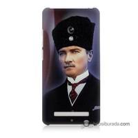 Teknomeg Asus Zenfone 5 Lite Kılıf Kapak Mustafa Kemal Atatürk Baskılı Silikon