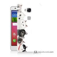 Teknomeg Huawei Gr5 Kapak Kılıf Kediler Baskılı Silikon