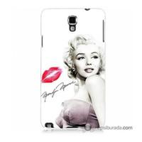 Teknomeg Samsung Galaxy Note 3 Neo Kapak Kılıf Marilyn Monroe Baskılı Silikon