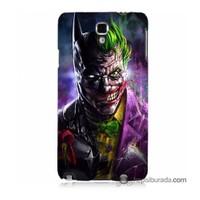 Teknomeg Samsung Galaxy Note 3 Neo Kılıf Kapak Batman Vs Joker Baskılı Silikon