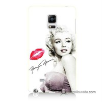 Teknomeg Samsung Galaxy Note Edge Kapak Kılıf Marilyn Monroe Baskılı Silikon