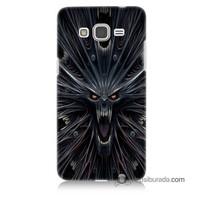Teknomeg Samsung Galaxy Grand Prime Kılıf Kapak Korku Canavarı Baskılı Silikon