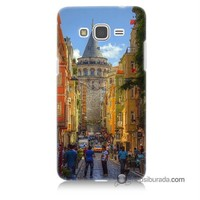 Teknomeg Samsung Galaxy Grand Prime Kapak Kılıf Galata Kulesi Baskılı Silikon