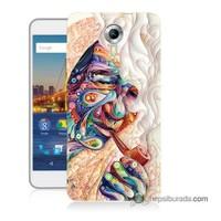 Teknomeg General Mobile 4G Android One Kılıf Kapak Kağıt Sanatı Baskılı Silikon