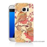 Teknomeg Samsung Galaxy S7 Kılıf Kapak Kuşlar Baskılı Silikon