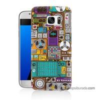 Teknomeg Samsung Galaxy S7 Kılıf Kapak Teknoloji Baskılı Silikon