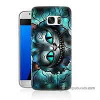 Teknomeg Samsung Galaxy S7 Kapak Kılıf Alice Kedi Baskılı Silikon