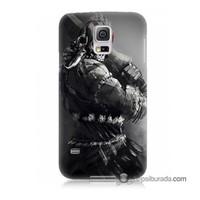 Teknomeg Samsung Galaxy S5 Kılıf Kapak Tribal Warrior Baskılı Silikon