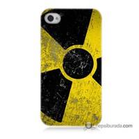Teknomeg İphone 4 Kapak Kılıf Radyasyon Baskılı Silikon