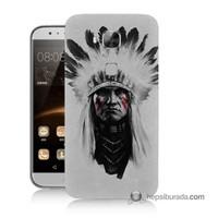 Teknomeg Huawei Ascend G8 Kılıf Kapak Geronimo Baskılı Silikon