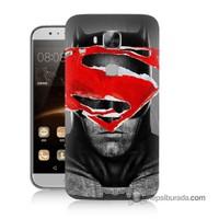 Teknomeg Huawei Ascend G8 Kapak Kılıf Batman Vs Superman Baskılı Silikon
