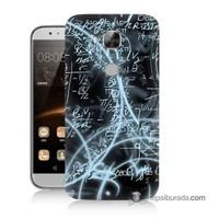 Teknomeg Huawei Ascend G8 Kapak Kılıf Matematik Baskılı Silikon