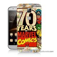 Teknomeg Huawei Ascend G8 Kılıf Kapak Marvel Karakterleri Baskılı Silikon