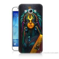 Teknomeg Samsung Galaxy A8 Kapak Kılıf İllustrations Resim Baskılı Silikon