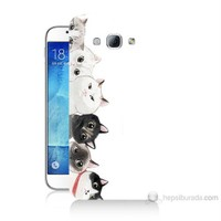 Teknomeg Samsung Galaxy A8 Kapak Kılıf Kediler Baskılı Silikon