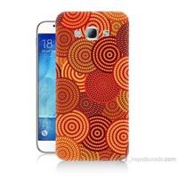 Teknomeg Samsung Galaxy A8 Kapak Kılıf Daireler Baskılı Silikon