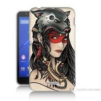 Teknomeg Sony Xperia E4G Pocahontas Baskılı Silikon Kılıf