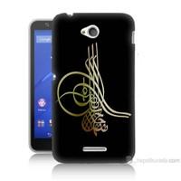 Teknomeg Sony Xperia E4G Tuğra Osmanlı Baskılı Silikon Kılıf