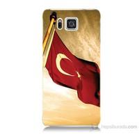 Teknomeg Samsung Galaxy Alpha G850 Türk Bayrağı Baskılı Silikon Kılıf