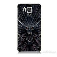 Teknomeg Samsung Galaxy Alpha G850 Korku Canavarı Baskılı Silikon Kılıf