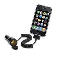 Griffin Powerjolt Plus Ekstra Çakmak Çıkışlı iPhone 4/4S, iPod 1/2/3 5V 1A Araç Şarjı - GC23055