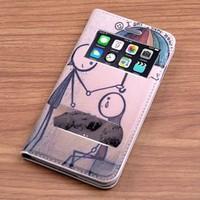 Teleplus İphone 6 Desenli Çift Pencereli Kılıf Adam