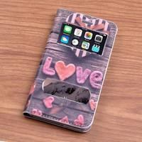 Teleplus İphone 6 Desenli Çift Pencereli Kılıf Love