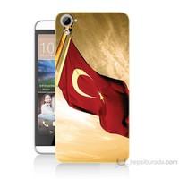 Teknomeg Htc Desire 826 Türk Bayrağı Baskılı Silikon Kılıf